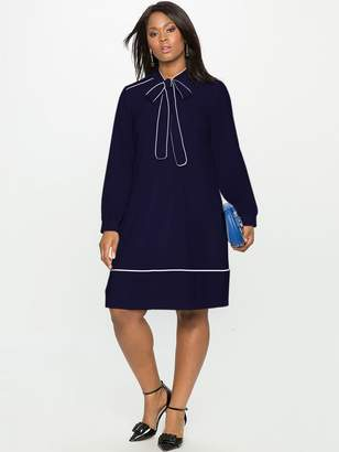 Draper James ELOQUII Soft Shirtdress with Piping
