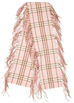 Burberry Happy Cashmere Check Scarf