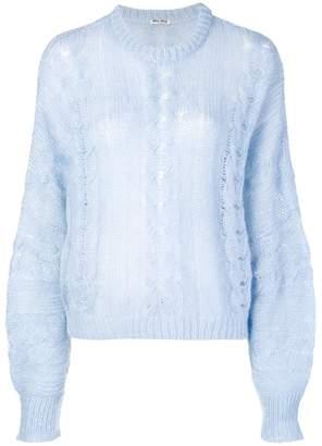 Miu Miu (ミュウミュウ) - Miu Miu ケーブルニット セーター