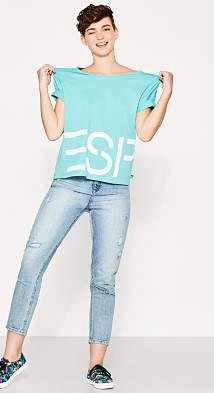 Esprit RETRO COLLECTION: Boxy logo T-shirt