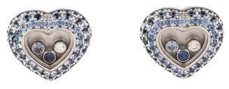Chopard Sapphire & Diamond Heart Earclips