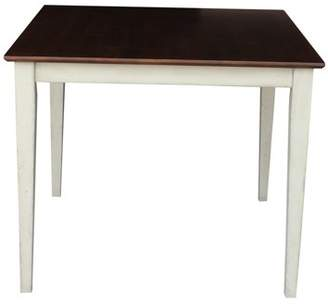 """INC International Concepts 36"""" Square Dining Table with Shaker Legs in Antiqued Almond/Espresso"""