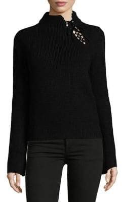 Ella Moss Lace-Up Sweater