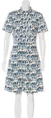 Tory Burch Printed Knee-Length Shirtdress