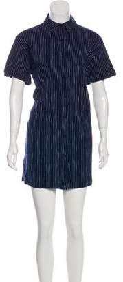 Steven Alan Denim Stripe Mini Dress
