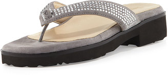 Taryn Rose Tara Suede Thong Sandal $159 thestylecure.com