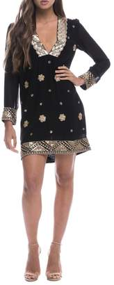 Endless Rose Sequin Embroidered Shift-Dress