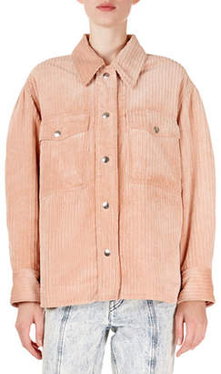 Isabel Marant Marvey Wide-Corduroy Boyfriend Shirt
