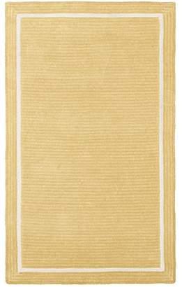 Pottery Barn Teen Capel Border Rug, 8'x10', Pale Yellow