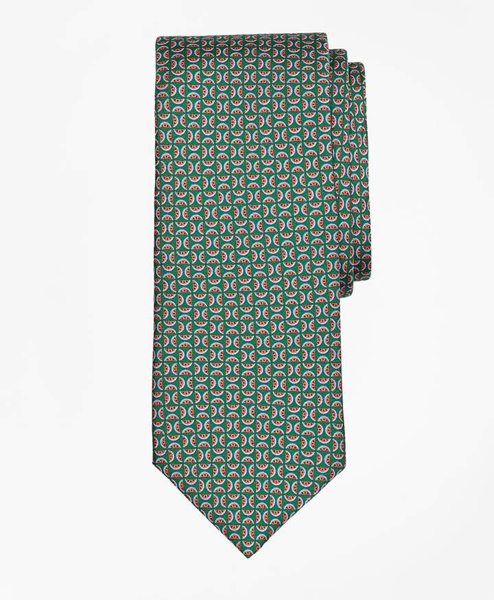 Brooks Brothers  Watermelon Motif Print Tie