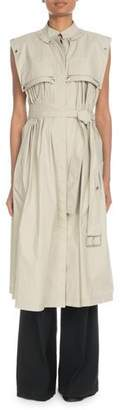 Proenza Schouler Sleeveless Trench-Style Dress with Belt