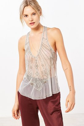 Kimchi Blue Alexis Beaded Mesh Tank Top $98 thestylecure.com