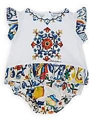 Dolce & Gabbana Infants' Majolica-Tile-Print Cotton Bodysuit