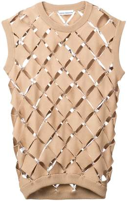 Paco Rabanne diamond cut-out sweater vest