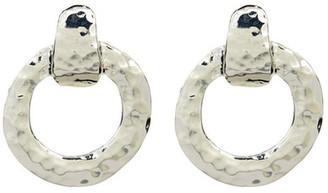 Argento Vivo Hammered Doorknocker Earrings $65 thestylecure.com