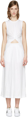 T by Alexander Wang White Front Twist Dress $250 thestylecure.com