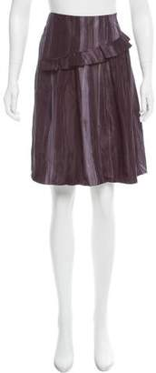 Marni Ruffle-Trimmed Batik Print Skirt