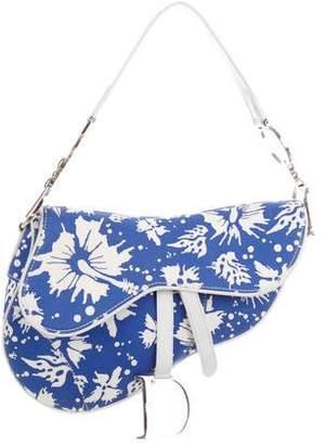 Christian Dior Surf Chick Floral Saddle Bag