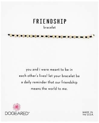 Dogeared Friendship Bracelet, Flat Bead Black Silk Bracelet Bracelet