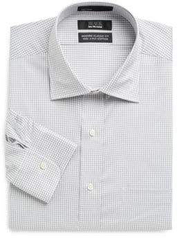 Saks Fifth Avenue BLACK Classic-Fit Gingham Dress Shirt