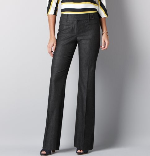 Julie Extended Tab Boot Cut Pants in Polished Denim