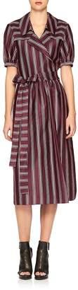 Burberry Women's Panama Stripe Cotton & Silk Dress