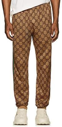 Gucci Men's GG-Print Tech-Jersey Jogger Pants - Camel