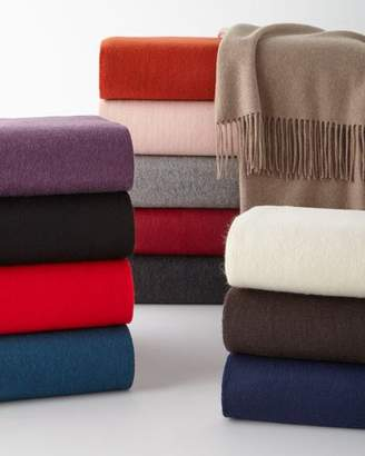 Sofia Cashmere Fringed Cashmere Throw