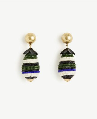 Seed Bead Drop Earrings $59.50 thestylecure.com
