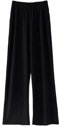 Goodnight Macaroon 'Millie' Ribbed Wide Leg Pants (2 Colors)