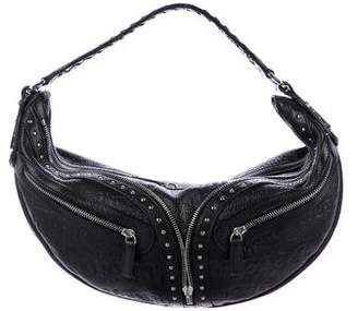 Versace Embossed Leather Hobo