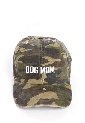 David & Young Dog Mom Distressed Camo Baseball Hat
