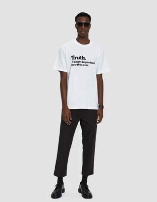 Sacai S/S Truth T-Shirt in White