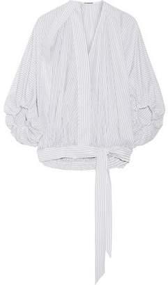 Chalayan Striped Cotton-Poplin Blouse