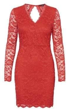 Vero Moda Long-Sleeve Lace Sheath Dress