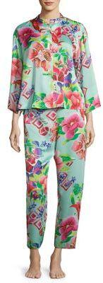 Natori Star Blossom Mandarin Pajamas