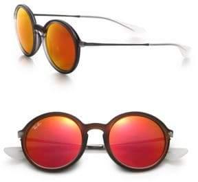 Ray-Ban Mirrored 50MM Round Sunglasses