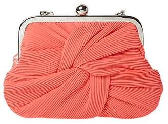 Dorothy Perkins Coral Pleat Frame Clutch Bag