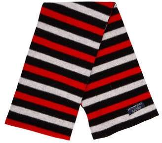 Burberry Striped Lambswool Scarf
