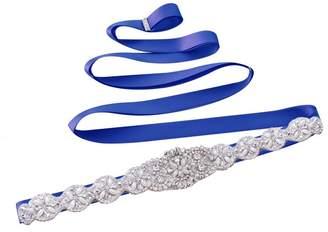 Azaleas Women's Rhinestone Crystal Wedding Bridal Sash Belt
