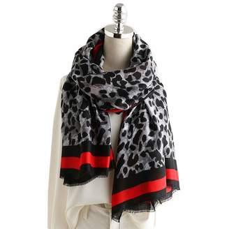 K-Elewon Women Winter Leopard Fashion Scarves Cotton Scarf Shawls And Wraps SK029