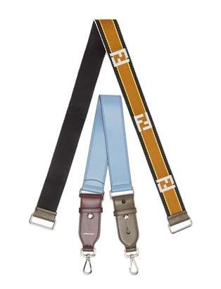 Fendi Strap You logo-jacquard and leather bag strap set