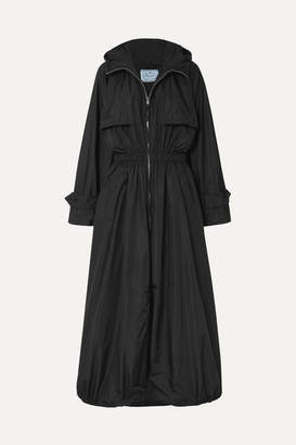 Prada Hooded Shell Trench Coat - Black