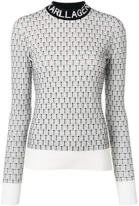 Karl Lagerfeld slim-fit logo sweater