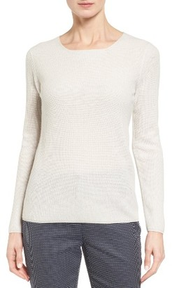 Women's Nordstrom Collection Button Back Cashmere Pullover $279 thestylecure.com