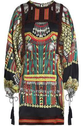 Etro Printed Silk-Faille Mini Dress