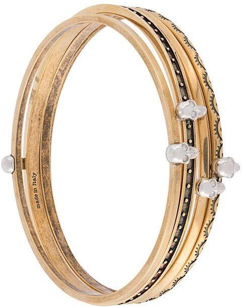 Alexander McQueenAlexander McQueen set of four embellished bracelets