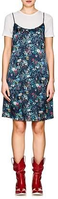 R 13 Women's Floral Silk Charmeuse Slipdress