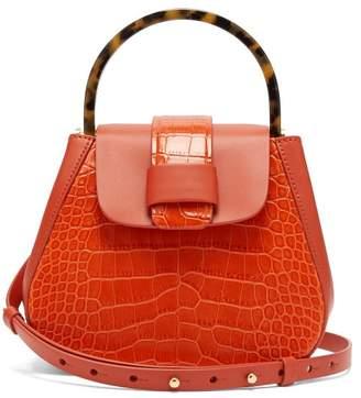Nico Giani - Myria Mini Crocodile Effect Leather Cross Body Bag - Womens - Orange