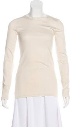 Brunello Cucinelli Long Sleeve Rib Knit Top